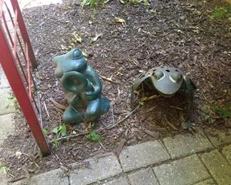 Frog Related Outdoor Statuary