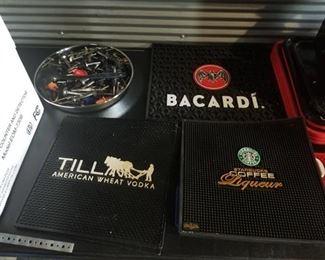 Till, Bacardi and Starbucks Bar Mats