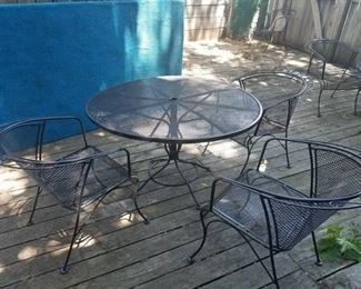 Metal Patio Table With 3 Chairs