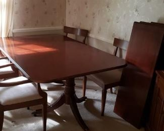 Midcentry chairs with cherry table