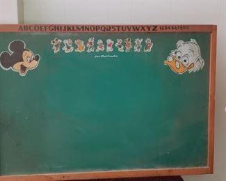 Vintage Disney chalk board