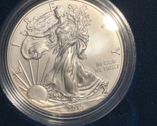 2015 uncirculated american silver eagle