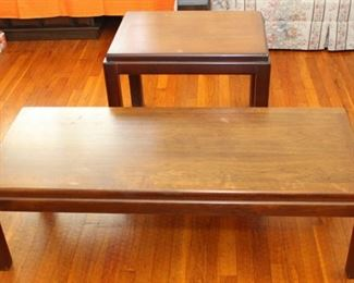 Lane coffee table and lamp table.