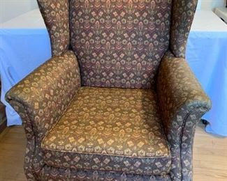 Upholstered wingback chair      https://ctbids.com/#!/description/share/194333