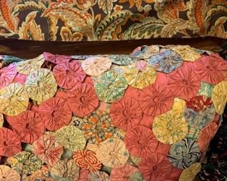 An assortment of quilts and upholstery fabric https://ctbids.com/#!/description/share/194346