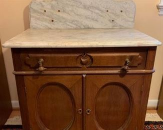 Marble Top Walnut Washstand, Hand dovetailed https://ctbids.com/#!/description/share/194340