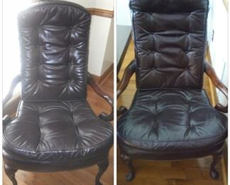 Leather matching office chairs