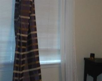 Beautiful 7 feet long curtains 2 panels