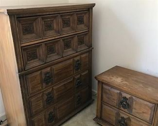 chest and end table bedroom suit 1