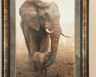 Large Elephant Art 45.5 l x 36 w