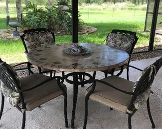 """Tile top patio set, from covered lanai 48"""""""