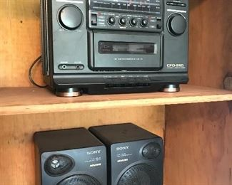 Sony plus we have some Bose speakers I will ad photos of