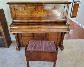 "Vintage ""Civil War"" Upright Piano"