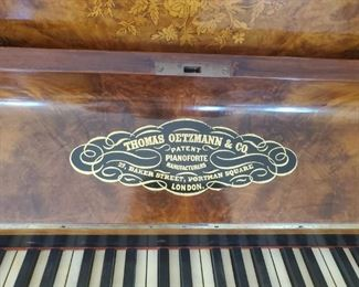 "Vintage ""Civil War"" Era Piano by Thomas Oetzmann & Co."