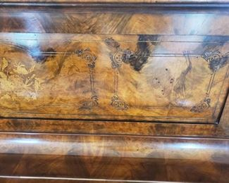"Vintage ""Civil War"" Upright Piano ... Burl Wood"