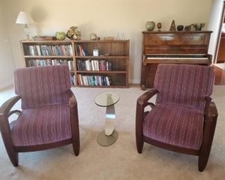 Mid-Century Modern Upholstered Side Chairs