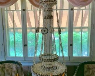 Beautiful large hanging. Made entirely out of shells.