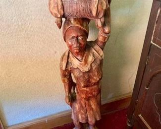 """Large wooden statue (about 4"""" tall)"""
