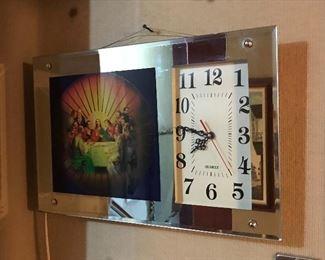 Electric religious clock