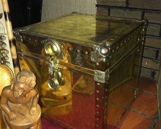 Locking brass box