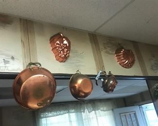 Copper pots and molds