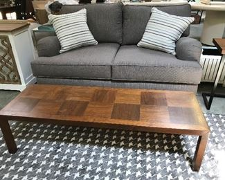 Lane long/coffee table and nice Kroehler sofa.