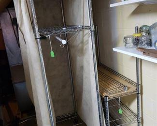 Metal clothes rack, kitchen metal storage rack