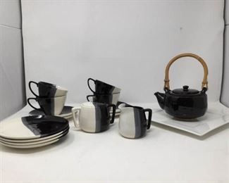 Black and White Tea Set    https://ctbids.com/#!/description/share/194101