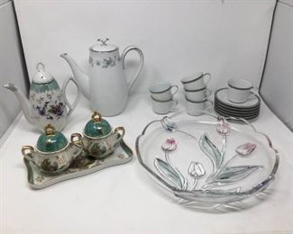 Noritake Coffee Pot, Mikasa Tulip Platter & More https://ctbids.com/#!/description/share/194141