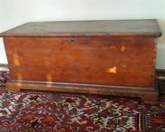 dovetailed trunk or blanket chest