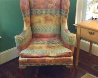 early wing back chair
