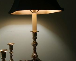 good selection of beautiful brass lamps