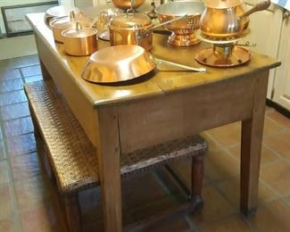 great farm table from the 1800's