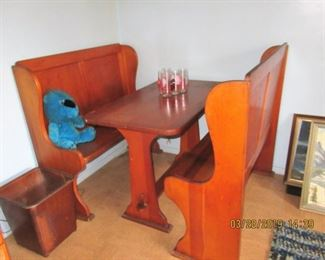 $150.00 TABLE WITH 2 BENCHES $150.00