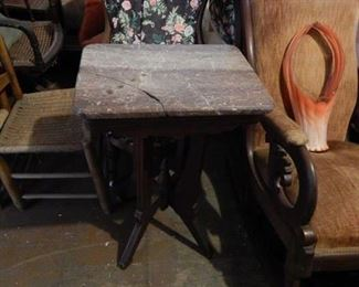 Eastlake side table. Marble on top broke and was repaired but could easily be replaced.