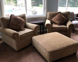 Like new chairs and ottoman