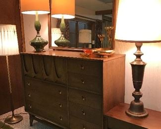 Broyhill Premier Brasilia chest, mirror and side table