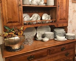 Cushman hutch with nice china set