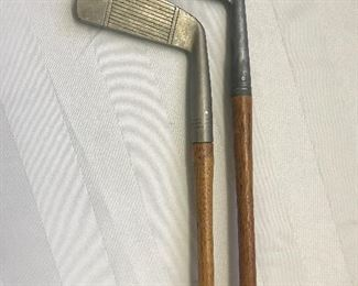 Antique wood shaft golf clubs
