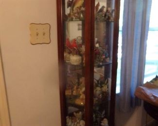 Curio Cabinet with Glass Doors...….Full of collectables!