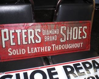 Peters Dyamond brand Shoes metal sign