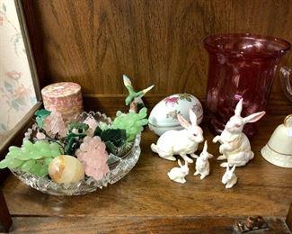 Pink quartz & jade fruit available Sunday