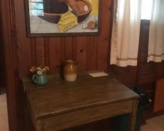 Handmade secretary/desk. Solid Wood