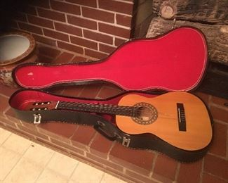 """Franciscan Classical Guitar ( probably 1970's) and Kent Vintage Classical Guitar ( Probably 1950""""s)"""