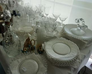 Candelwich plstes: dinner, luncheon, cake, cups and saucers
