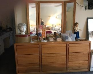 Dresser with mirror that matches bedroom suite