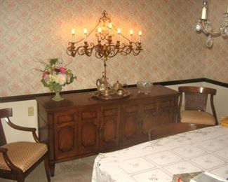 Buffett Server & Ornate Wall Lamp