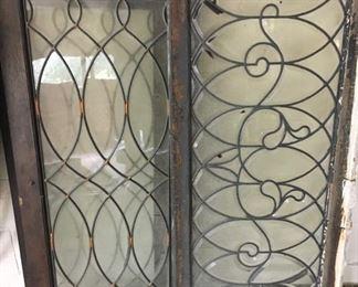 Beautiful old leaded glass doors - window