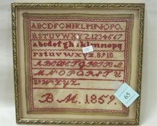 1859 CROSS STITCH SAMPLER