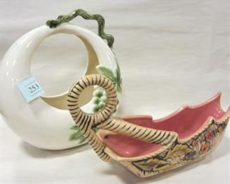50's ART POTTERY PLANTERS BY HULL